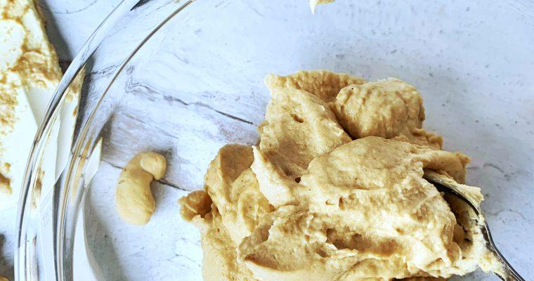 3 Ingredient Vanilla Cashew Frosting